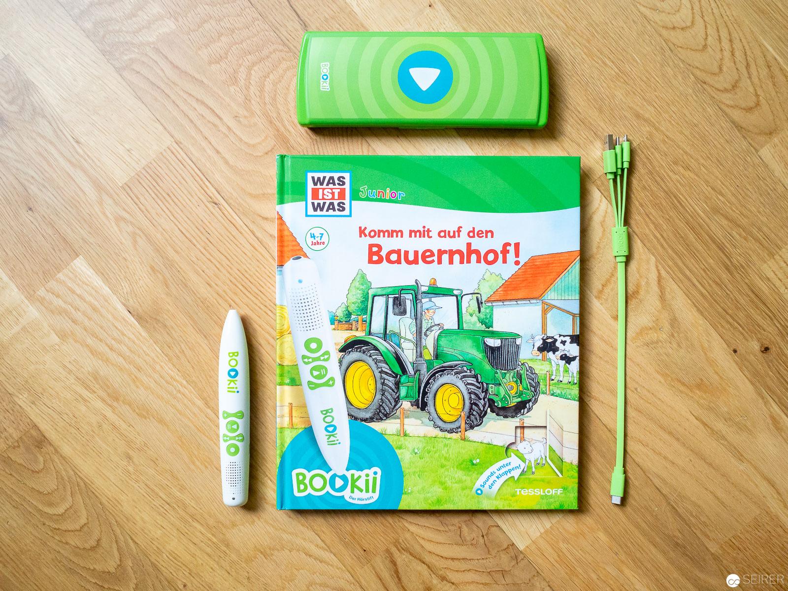 BOOKii Starterset WAS IST WAS Junior Komm mit auf den Bauernhof Buch Hörstift